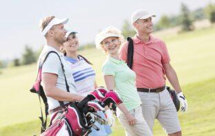 Glade golfspillere